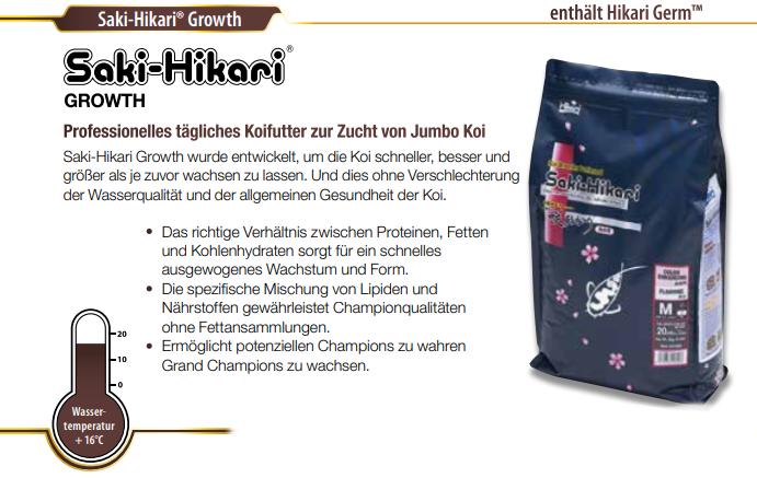 Koifutter Saki Hikari Growth bei Koi and More